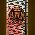 A stained glass window at Town & Gown