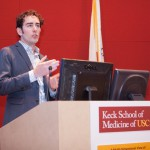 Chris Warren speaking at the 2016 USC Diabetes and Obesity Research Institute Symposium