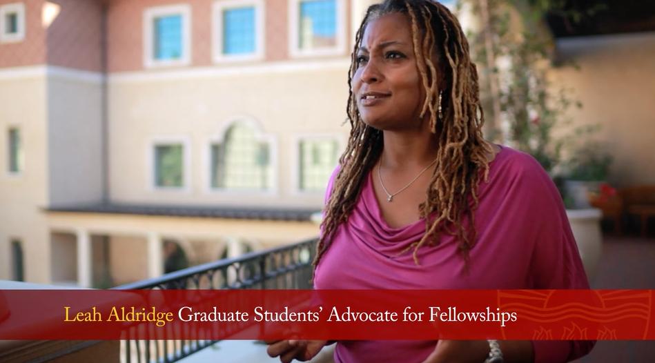 Leah Aldridge, Graduate Student Advocate for Fellowships