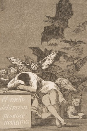 The Sleep of Reason Produces Monsters is an etching by the Spanish painter and printmaker Francisco Goya.