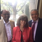 Left to right, Thomas Zachariah, LMU; Sally Pratt, Vice Provost, USC; Ricardo Machón, LMU.